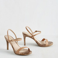 Sweet As Honey Heel in Tan