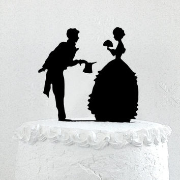 Wedding cake topper silhouette