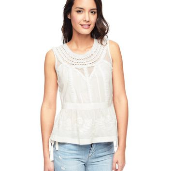 Angel Embroidered Cotton With Lace Top by Juicy Couture,