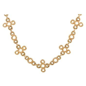 Chanel Yellow Gold Knot Collar Necklace