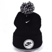 Perfect Nike Women Men Embroidery Beanies Winter Warm Knit Hat Cap