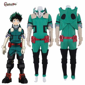 My Hero Academia 3 Boku no Hero Akademia Cosplay Izuku Midoriya Deku Battle Costume Jumpsuit Halloween Carnival Custom Made