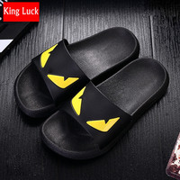 KING LUCK linen slippers house men woven shoes home pantufa funny slippers indoor kawaii chacos ladies pantoufle chinese 0.48KG