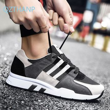 Running Shoes for Men Fitness Suede Sneakers 2018 New Trend Male 9b715a1108c3