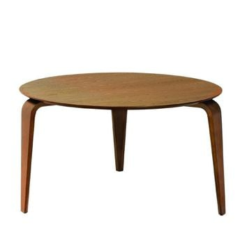 """Audny"" Round Modern Ash Veneer Dining Table"