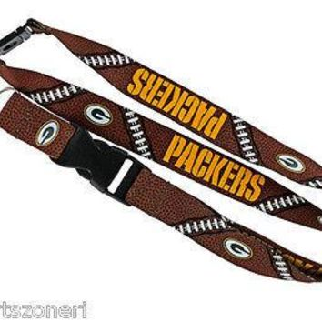Green Bay Packers Football Laces Break Away Lanyard