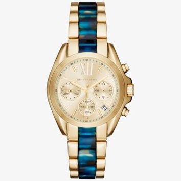 Bradshaw Gold-Tone and Acetate Watch | Michael Kors