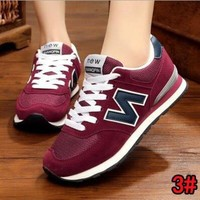 """New Balance"" Fashion Women Men Casual All-Match N Words Sport Breathable Couple Sneakers Shoes 3#"