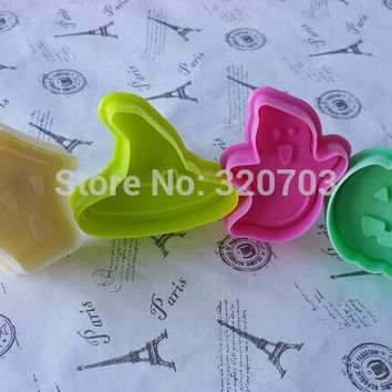 New arrive, 4PCS/ set Grape, Pumpkin ,Witch Hat , Haunted House ShapeCake Tools, Cookie Cutter,  020039