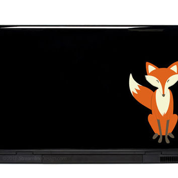 Sly Fox Vinyl Sticker Laptop or Automotive Art FREE SHIPPING decal laptop notebook art stickers ornate detailed colorful fox foxes kit vixen