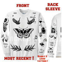 larry Stylinson -Harry Styles and Louis Tomlinson combined Ultra soft crewneck sweatshirt !- 562 White gray