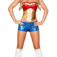Corset and Shorts Wonder Woman Costume