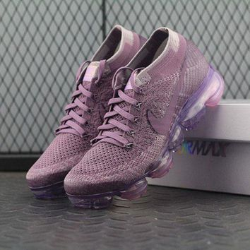 PEAPUX5 Nike Air VaporMax Vapor Max 2018 Flyknit Women Purple Sport Running Shoes 849557-500