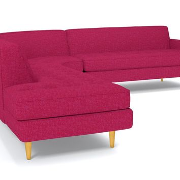 Monroe 3pc Sectional Sofa :: Leg Finish: Natural / Configuration: LAF - Chaise on the Left