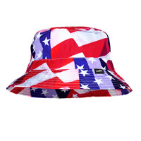 Washed USA Flag Bucket Hat
