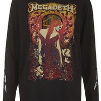 Megadeath Long Sleeve Tee by And Finally - Black