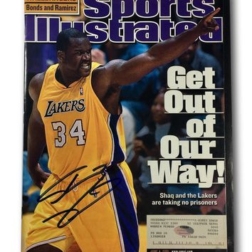 SHAQUILLE O'NEAL SIGNED SPORTS ILLUSTRATED JUNE 4, 2001 LA LAKERS SHAQ SI AUTO