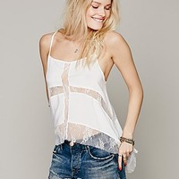 Intimately Womens High Low Carousel Cami - Alabaster,