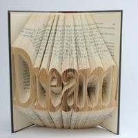 DREAM Book Art by BookOfArt on Etsy