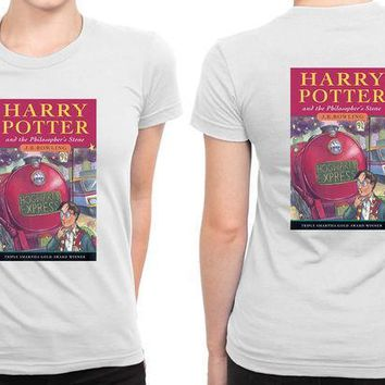CREYH9S Harry Potter And The Philosophers Stone Book Cover B 2 Sided Womens T Shirt