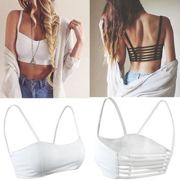 Trendy Fashion Strappy Bandage Summer Bra Crop Top Bustier Casual Women's Gifts = 5658144321