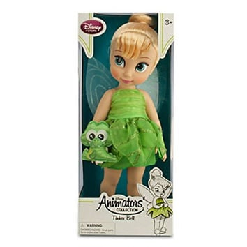 "Disney Animators Collection Tinker Bell Doll with Baby Croc 16"" Doll"
