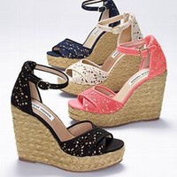 Marrvil Lace Wedge Sandal - Steve Madden - Victoria's Secret