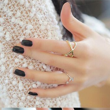Brilliant Criss-Cross Fashion Elite Ring