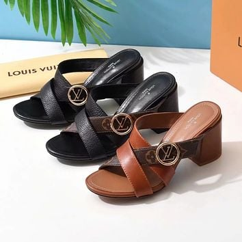 LV Louis Vuitton  High heeled sandals
