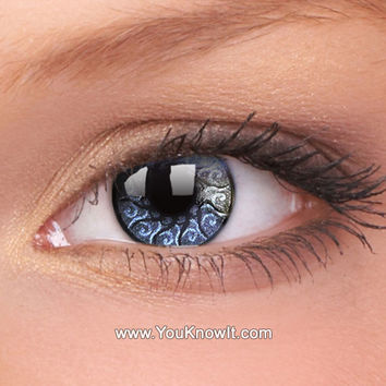 Silver Jewel Contact Lenses (Pair)