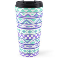 Geometric pattern purple and mint