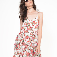Floral Babydoll Gauze Dress