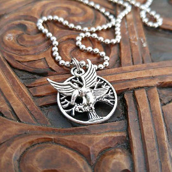 Tree of Life Necklace, Tree of Life Necklace, Eagle Necklace, Silver Tree Necklace, Celtic Necklace