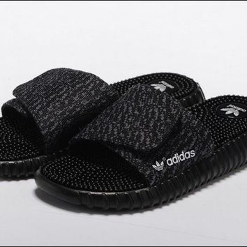 Adidas Women Fashion Yeezy Boost Print Slippers Sandals Shoes 6273bc570e