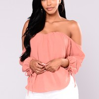 Koko Off The Shoulder Top - Rust