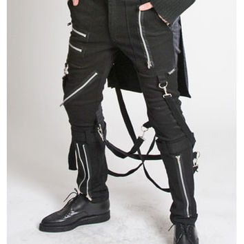 Bumflap Bondage Pants by Tripp NYC in Black