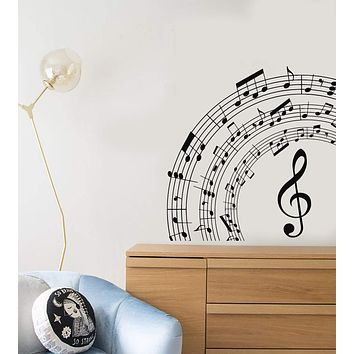 Vinyl Wall Decal Musical Notes Room Art Decor Music School Stickers Mural Unique Gift (ig5161)