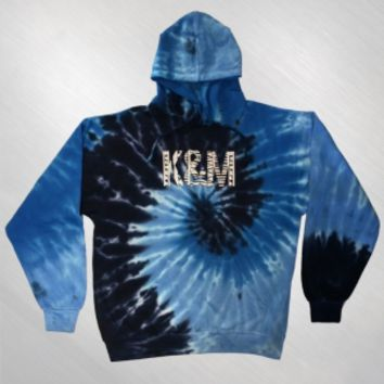 Kalin and Myles - Wavy Tie-Dye Hoodie [KAM5A3012]: Now Just $50.00