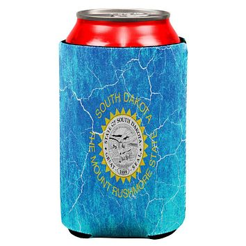 South Dakota Vintage Distressed State Flag All Over Can Cooler