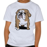English bulldog cartoon printed dog tshirts