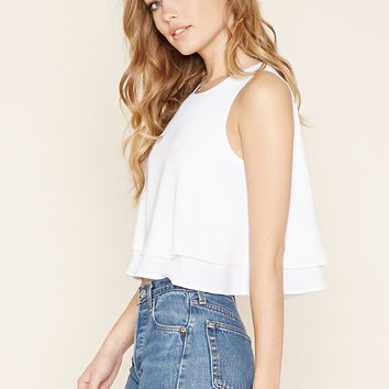 Keyhole-Back Layered Top
