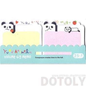 Cartoon Illustrated Panda Bear Shaped Animal Sticky Post-it Memo Note Pads