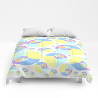 Bubble yellow & blue 08 Comforters by Zia
