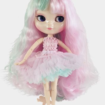 ANGELA Doll BABY PINK/ TURQUOISE 'UNICORN' incl. Dolly Fashion & Doll Carrier bag LIMITED EDITION