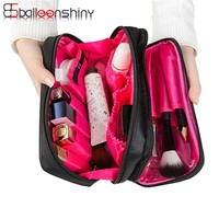 BalleenShiny Cosmetic Container Storage Bag Make Up Organizer Holder Multifunction Zipper Portable Travel Storage Bag