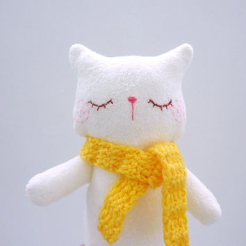 Plush Cat Stuffed Animal Doll Toy Softie Decor for children and kids - Kitty Mimi
