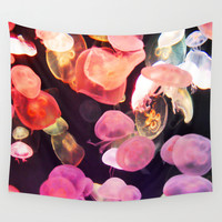 Pink Moon Jellyfish - Wall Tapestry