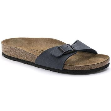 Birkenstock Madrid Birkibuc Navy 0040121/0040123 Sandals - Best Deal Online