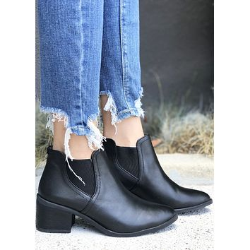 Brazille Leather Bootie - Black