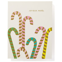 Candy Canes Foiled Box Cards